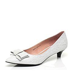 JoyPeace真美诗春季专柜同款银/灰色女浅口单鞋ZR752AQ7