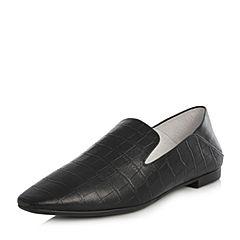 Joy&Peace/真美诗2018春季专柜同款黑色羊皮女单鞋小皮鞋YOE06AM8
