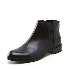 Joy&Peace/真美诗2018冬新品牛皮低跟及踝女皮短靴ZM226DD8