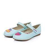 MIFFY/米菲童鞋春季新款PU蓝色女小童皮鞋DM0285