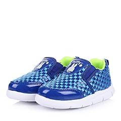 MIFFY/米菲童鞋2015春季新款PU/织物蓝色男婴幼童休闲鞋DM0310
