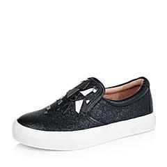 Millie's/妙丽秋季专柜同款黑色绵羊皮革女单鞋LWU16CM5