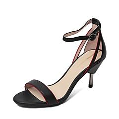 Millie's/妙丽夏季牛皮女凉鞋LA309BL6