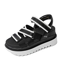 Millie's/妙丽夏季专柜同款女皮凉鞋LFS12BL6