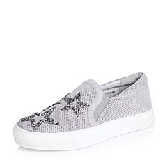 millie's/妙丽秋专柜同款羊皮镶钻活力星休闲女单鞋LWU67CM6