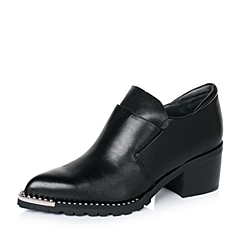 Millie's/妙丽2016秋季专柜同款黑色牛皮女鞋LB425CM6