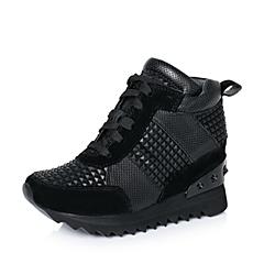 【11.11】millie's/妙丽秋专柜同款黑色运动风尚女休闲鞋LWD31CM6