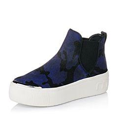 millie's/妙丽秋季专柜同款马皮/牛皮厚底休闲女短靴LZQ49CD6