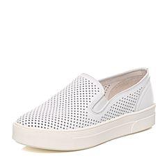 millie's/妙丽春季专柜同款牛皮镂空厚底女休闲单鞋Q1203AM7