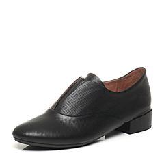 millie's/妙丽春季专柜同款牛皮时尚休闲方跟女单鞋LM223AM7