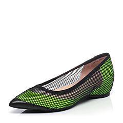 millie's/妙丽2017专柜同款网面镂空时尚低跟女单鞋LF710AQ7