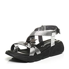 millie's/妙丽夏季专柜同款牛皮女凉鞋LG611BL7