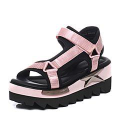 millie's/妙丽夏季专柜同款时尚松糕厚底女凉鞋LN302BL7