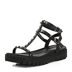 millie's/妙丽夏专柜同款牛皮铆钉时尚厚底女凉鞋88185BL7