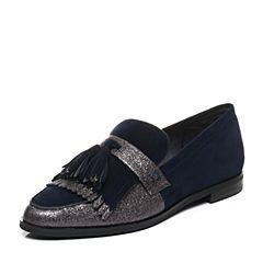 millie's/妙丽秋季专柜同款羊皮流苏低跟乐福鞋女单鞋LN820CM7