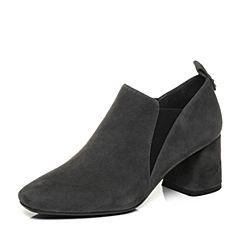 millie's/妙丽秋季专柜同款羊绒方跟女单鞋LP224CM7