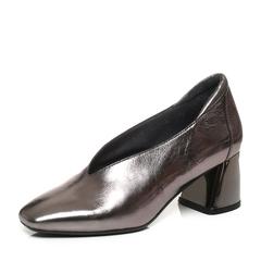 millie's/妙丽秋季专柜同款牛皮方头小V口粗跟女单鞋LP220CM7
