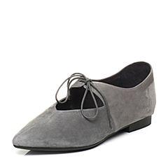 millie's/妙丽秋季专柜同款羊绒交叉绑带女单鞋LM122CM7