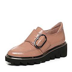 millie's/妙丽秋季专柜同款牛皮厚底休闲女单鞋LM426CM7