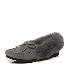 millie's/妙丽秋季专柜同款羊绒/兔毛平底休闲女单鞋LMK41CM7