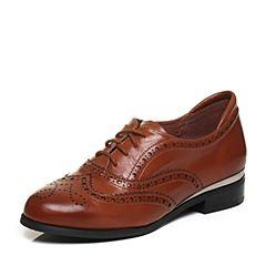 millie's/妙丽秋季专柜同款牛皮镂花英伦风休闲单鞋LP823CM7