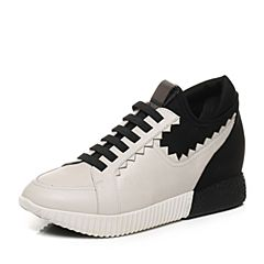 millie's/妙丽2017秋专柜同款牛皮内增高运动休闲女鞋LL130CM7