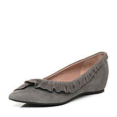 millie's/妙丽秋季专柜同款羊绒低跟女浅口单鞋LF717CQ7
