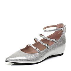 millie's/妙丽秋季专柜同款羊皮玛丽珍低跟女单鞋LF715CQ7