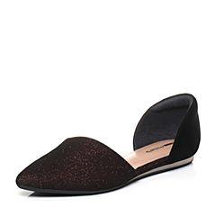 millie's/妙丽秋季专柜同款羊皮亮线布浅口单鞋女凉鞋LZM34CK7