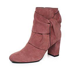 millie's/妙丽冬季专柜同款羊绒时尚粗跟女短靴LK642DD7