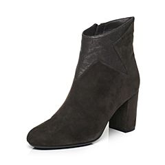 millie's/妙丽冬季专柜同款羊绒拼接时尚高跟女短靴LK643DD7
