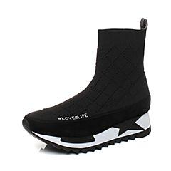 millie's/妙丽冬季专柜同款羊绒针织面时尚休闲女短靴LL740DD7