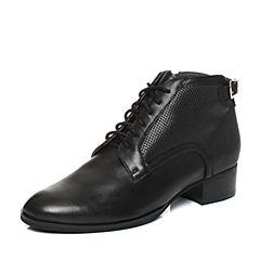 millie's/妙丽冬季专柜同款牛皮时尚及踝靴女短靴LR640DD7