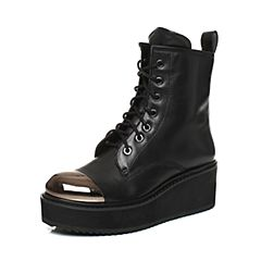 millie's/妙丽秋季专柜同款牛皮休闲厚底马丁靴女短靴LXC42DD7