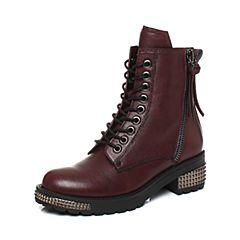 millie's/妙丽冬季专柜同款牛皮时尚休闲女短靴LXF51DD7