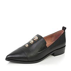 millie's/妙丽秋季新款牛皮时尚方跟女单鞋H7078CM7