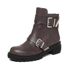 millie's/妙丽冬季新款羊皮时尚方跟女短靴LXF55DD7