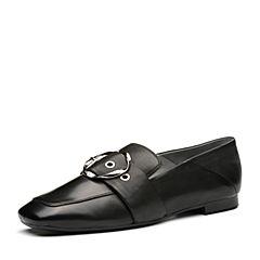 millie's/妙丽2018春专柜同款羊皮时尚大扣女单鞋LS421AM8