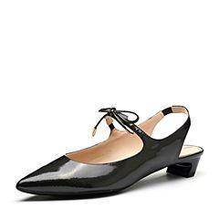 millie's/妙丽2018春专柜同款漆牛皮时尚猫跟女凉鞋LQ118AH8