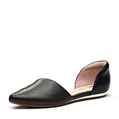millie's/妙丽2018春专柜同款羊皮时尚平底女单凉鞋LZM34AK8