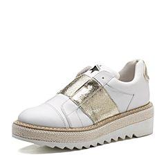 millie's/妙丽2018春专柜同款牛皮/羊皮厚底女休闲鞋LYG35AM8
