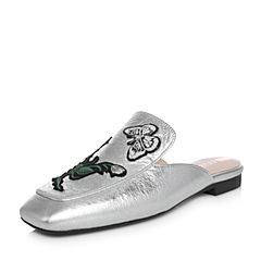 millie's/妙丽春秋季专柜同款牛皮刺绣穆勒鞋女凉拖鞋LS402AH8
