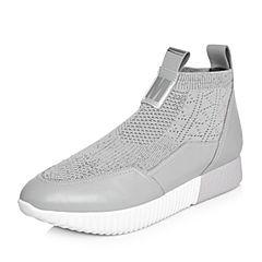 millie's/妙丽2018春专柜同款牛皮网面时尚女休闲鞋LT521AM8