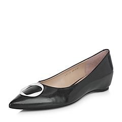 millie's/妙丽2018春专柜同款漆牛皮时尚女单鞋LF719AQ8