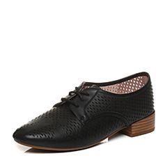 millie's/妙丽2018春专柜同款羊皮镂空时尚方跟女单鞋LM230AM8