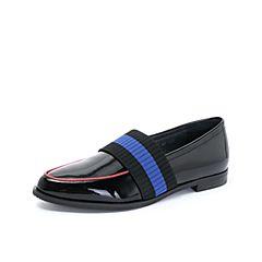 millie's/妙丽2018秋专柜同款漆牛皮英伦风休闲女单鞋LN827CM8