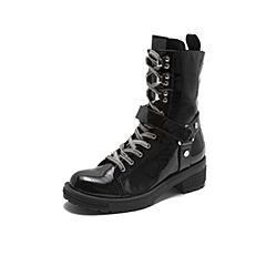 millie's/妙丽2018冬专柜同款漆牛皮休闲马丁靴女中靴LXF75DZ8