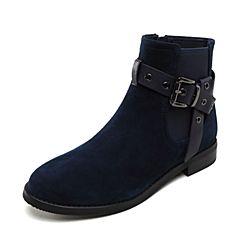 millie's/妙丽2018冬专柜同款羊绒时尚休闲方跟女靴LTW59DD8