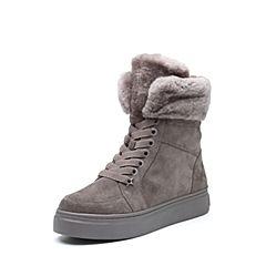millie's/妙丽2018冬专柜同款牛皮/羊毛时尚休闲女短靴LJ742DD8