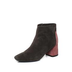 millie's/妙丽2018冬专柜同款羊绒时尚粗跟女短靴LP241DD8